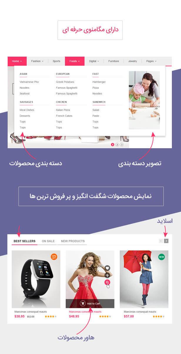 قالب فروشگاهی کات شاپ | قالب kuteshop | قالب چند منظوره کات شاپ | KuteShop Multipurpose WooCommerce