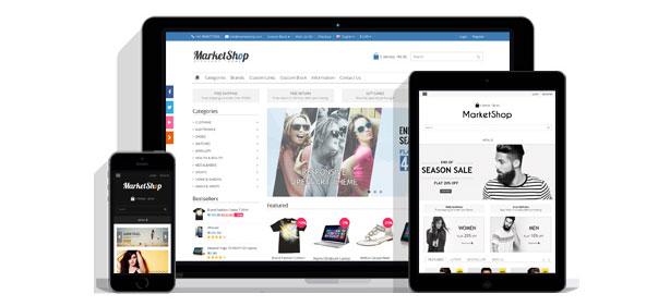 واکنش گرا - ریسپانسیو - قالب مارکت شاپ - قالب html فروشگاهی